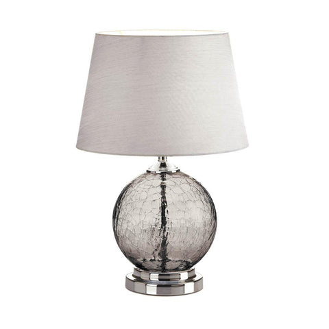 Modern Gray Crackle Glass Table Lamp - foodgles-supermarkets
