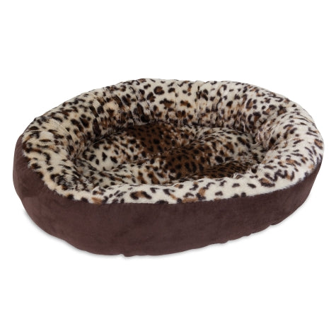 Leopard Print Round Pet Bedding - foodgles-supermarkets