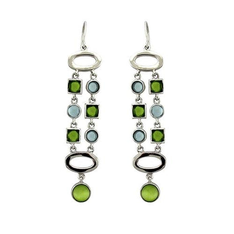925 Sterling Silver & Peridot Earrings - foodgles-supermarkets