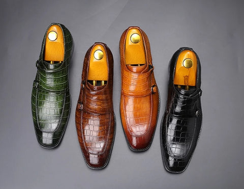 Classic Crocodile Pattern Dress Shoes - foodgles-supermarkets