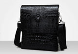 Men's Luxury Crocodile Leather Messenger Bag - foodgles-supermarkets
