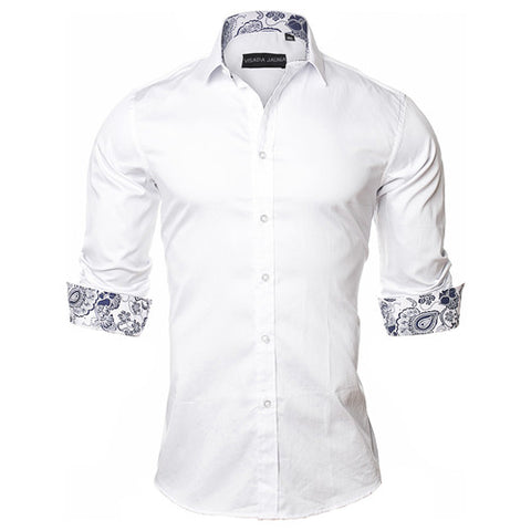 Long Sleeve Paisley Style Casual Shirt - foodgles-supermarkets