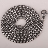 Large Lion Head 316L Stainless Steel Pendant W/ Chain - foodgles-supermarkets