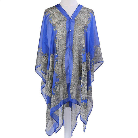 Women's Beautiful Summer Button Down Shawl. - foodgles-supermarkets