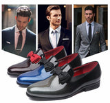 Patent Leather Tuxedo Shoes - foodgles-supermarkets
