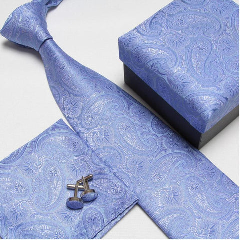 Men's Tie Set  Tie+Hankie+Cufflinks - foodgles-supermarkets