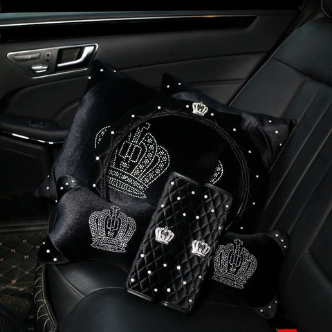 Plush Crown Series Car Interior Accessories - foodgles-supermarkets
