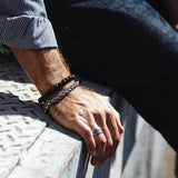 2 Piece Natural Stone & Stainless Steel Bracelets - foodgles-supermarkets