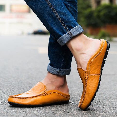 Italian Luxury Breathable Leather Loafers - foodgles-supermarkets