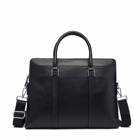 Men's Genuine Leather Casual Attache - foodgles-supermarkets