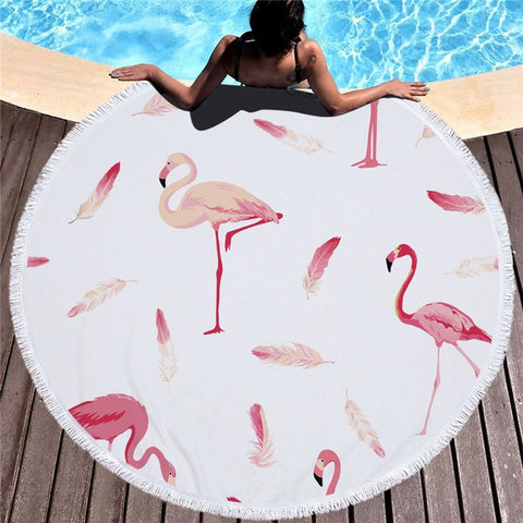 Large Round Printed Beach Towels - foodgles-supermarkets