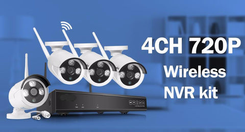 Wireless 4CH 720p HD Security System - foodgles-supermarkets