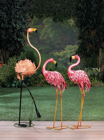 Flamingo Garden Sculpture - foodgles-supermarkets