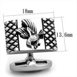 Stainless Steel High polished Eagle Cufflinks - foodgles-supermarkets