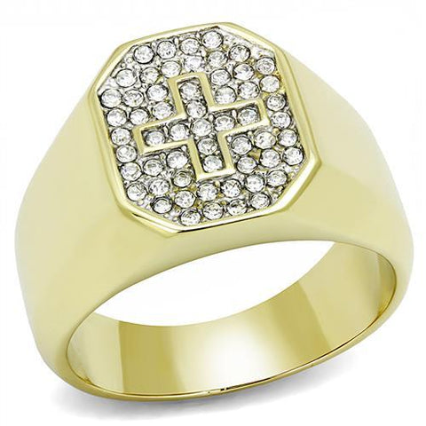 Two-Tone Stainless Steel Cross Ring