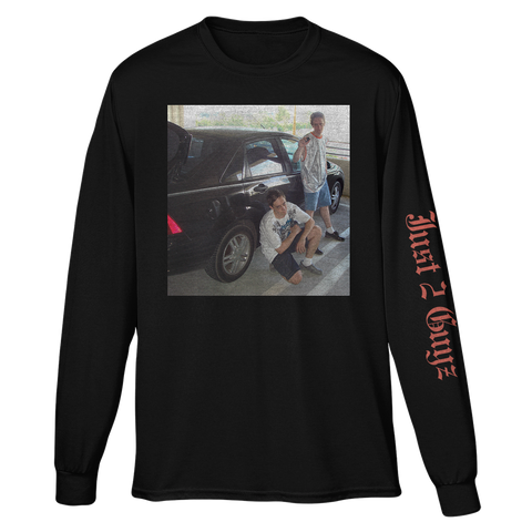 JUST 2 GUYZ BY A CAR LONG SLEEVE