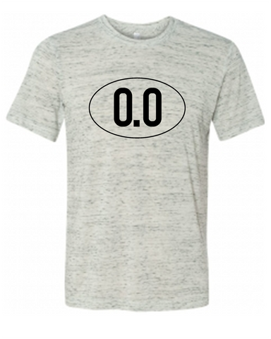 0.0 Miles Funny Graphic Tee Shirt