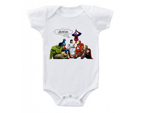 Jesus Is My Superhero Inspirational Baby Bodysuit Onesie