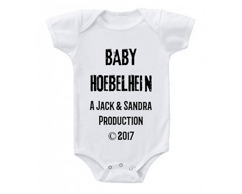 Custom Production Pregnancy Baby Announcement Baby Bodysuit