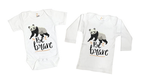 Be Brave Little Panda Bear Tee Shirt or Bodysuit