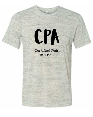 CPA Accountant Graphic Tee Shirt