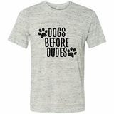 Dogs Before Dudes Funny Graphic Tee Shirt
