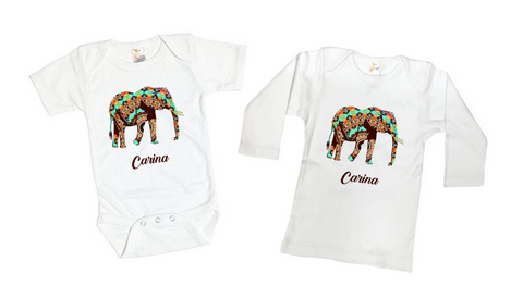 Little Peanut Elephant Tee Shirt or Bodysuit