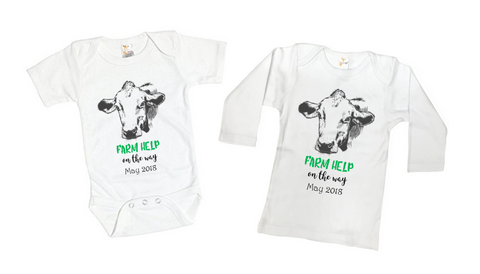 Farm Help On The Way Tee Shirt or Bodysuit