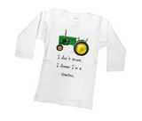 I Dream I'm A Green Tractor Shirt or Bodysuit