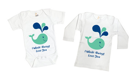 Whale Love Tee Shirt or Bodysuit