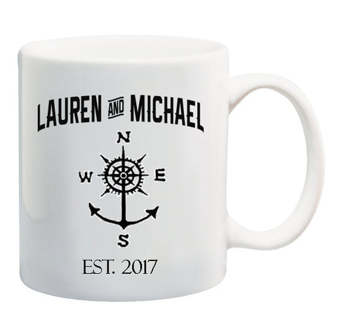 Personalized Nautical Anchor Coffee Mug