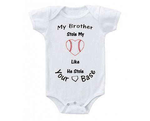 My Brothers Biggest Fan Baseball Baby Bodysuit