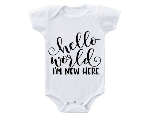 Hello World Coming Home Baby Bodysuit