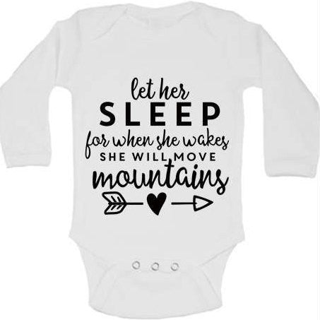 Let Her Sleep Christian Inspirational Baby Bodysuit