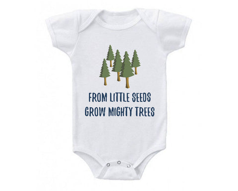 Mighty Trees Cute Baby Bodysuit