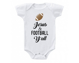 Jesus and Football Y'all Funny Baby Bodysuit Onesie