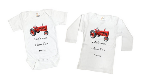 International Harvester Tractor Funny Baby Onesie or Kids Shirt