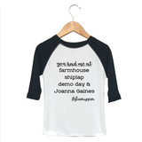 You Had Me At Farmhouse Raglan Toddler Tee