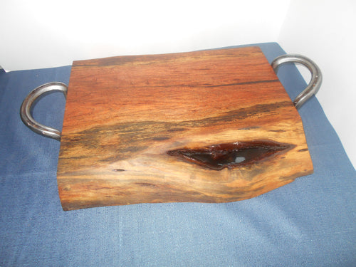 Very Cool Live Edge Mesquite Cutting or Serving Board