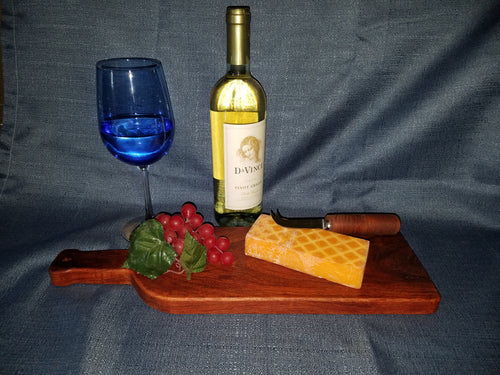 Wine Bottle Shaped Mesquite Cutting Board    Medium