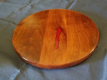 "16"" Texas Mesquite Lazy Susan with Crushed Red Coral Inlay"