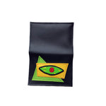 BLOODSHOT EYE wallet - lime green & yellow