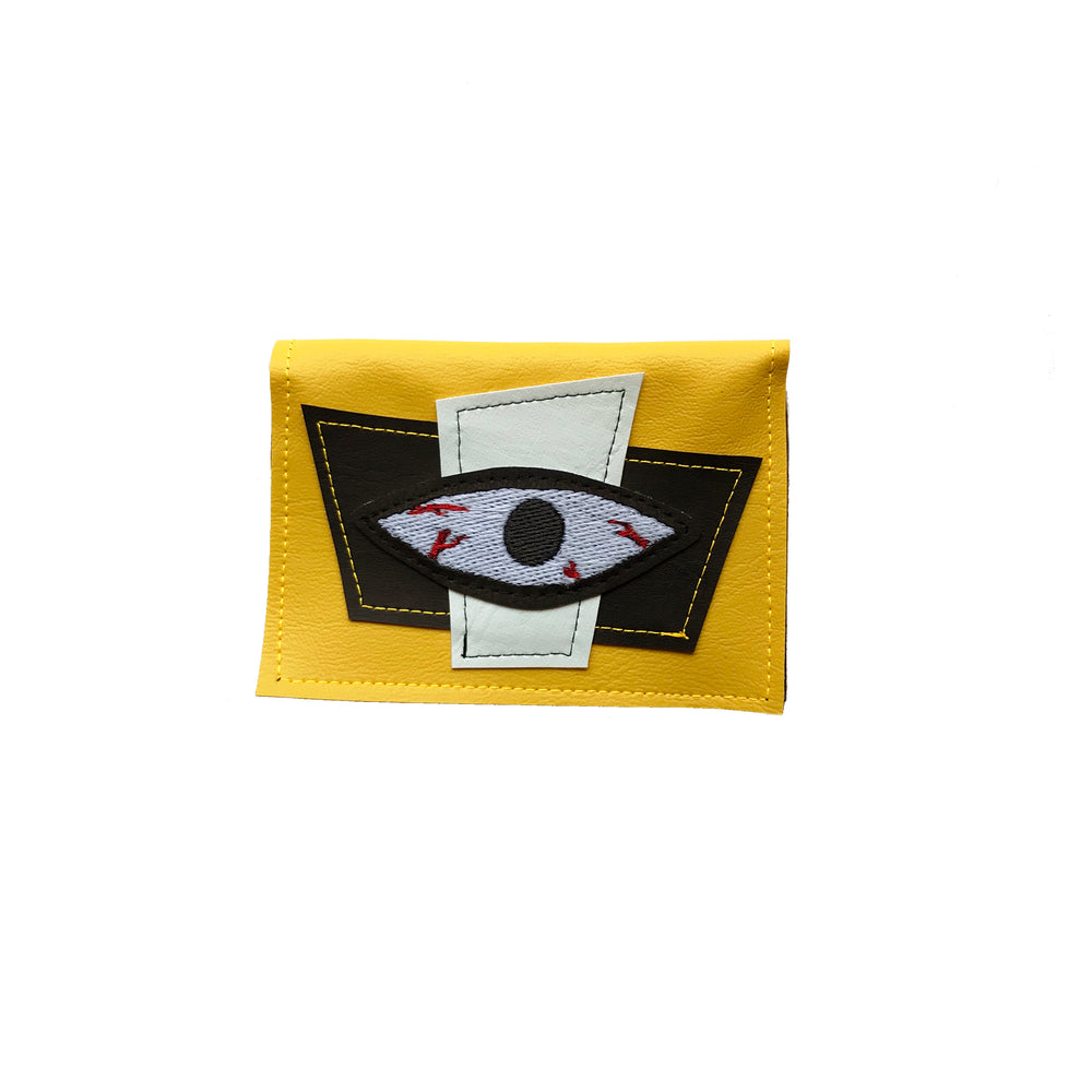 BLOODSHOT EYE wallet - yellow & glow in the dark