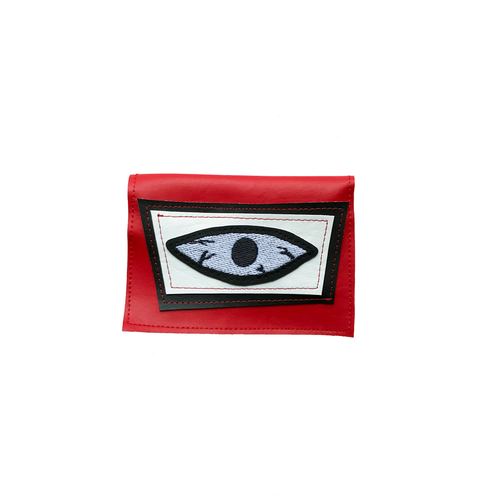 BLOODSHOT EYE wallet - red & glow in the dark
