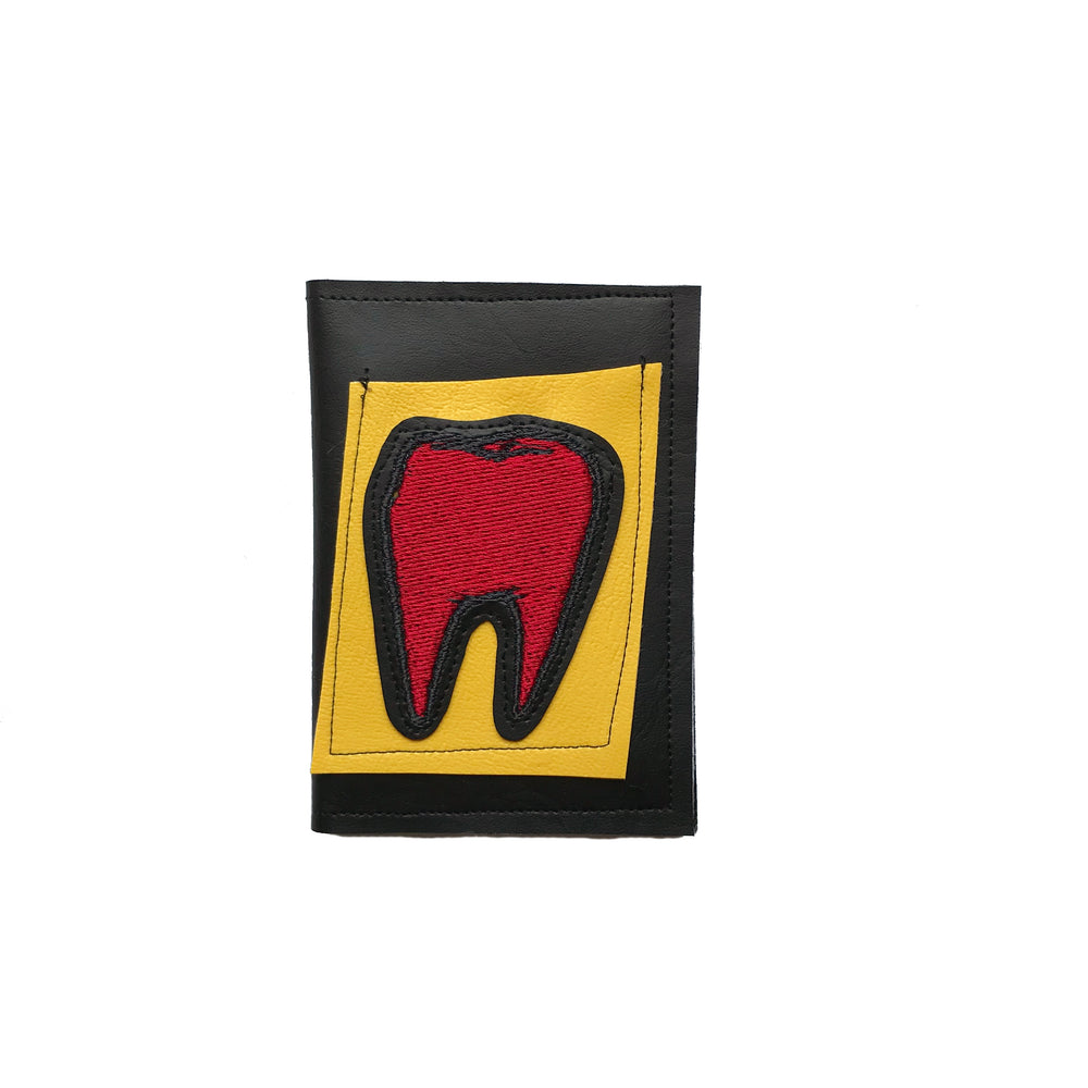 TOOTH wallet - black, yellow, & red