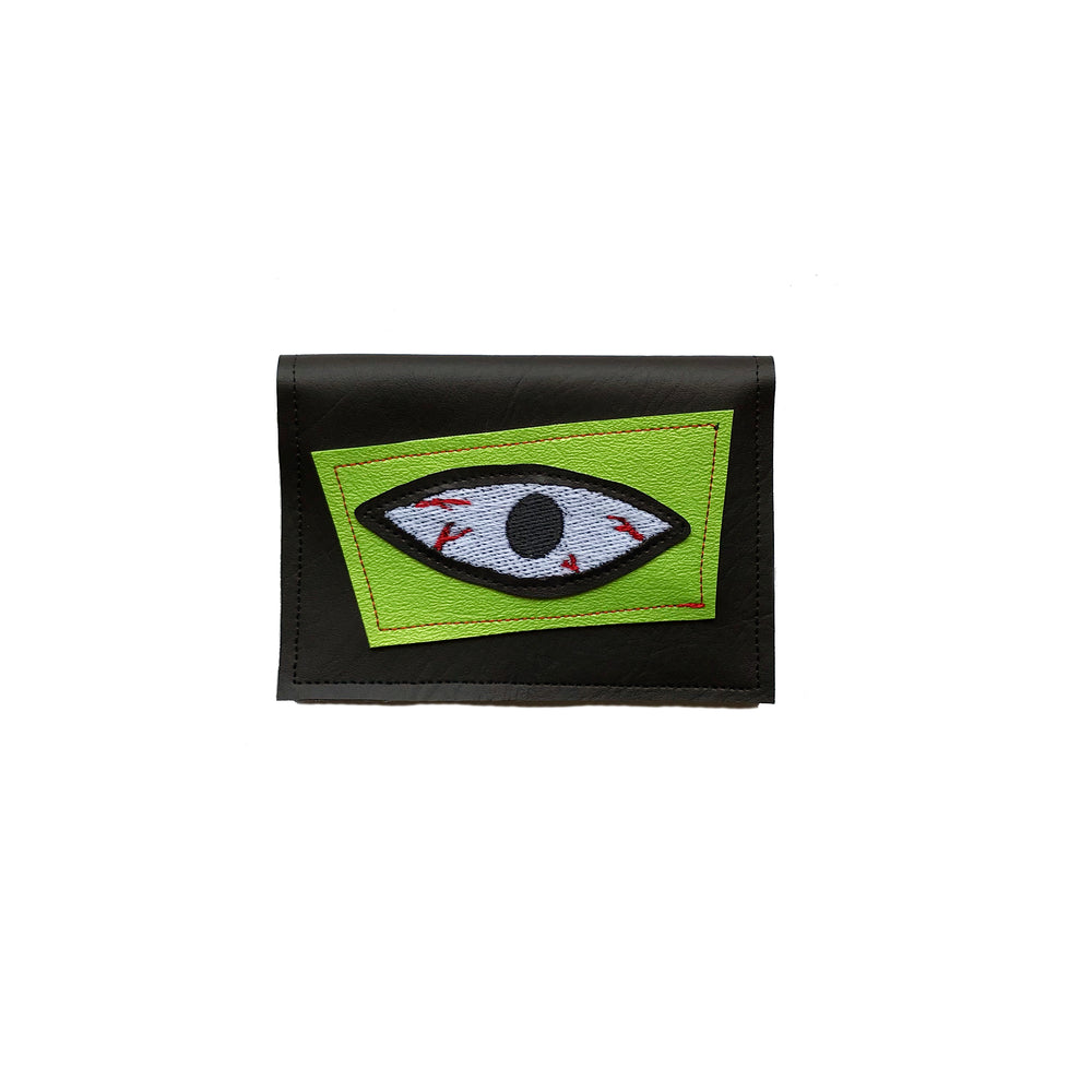 BLOODSHOT EYE wallet - lime green & glow in the dark
