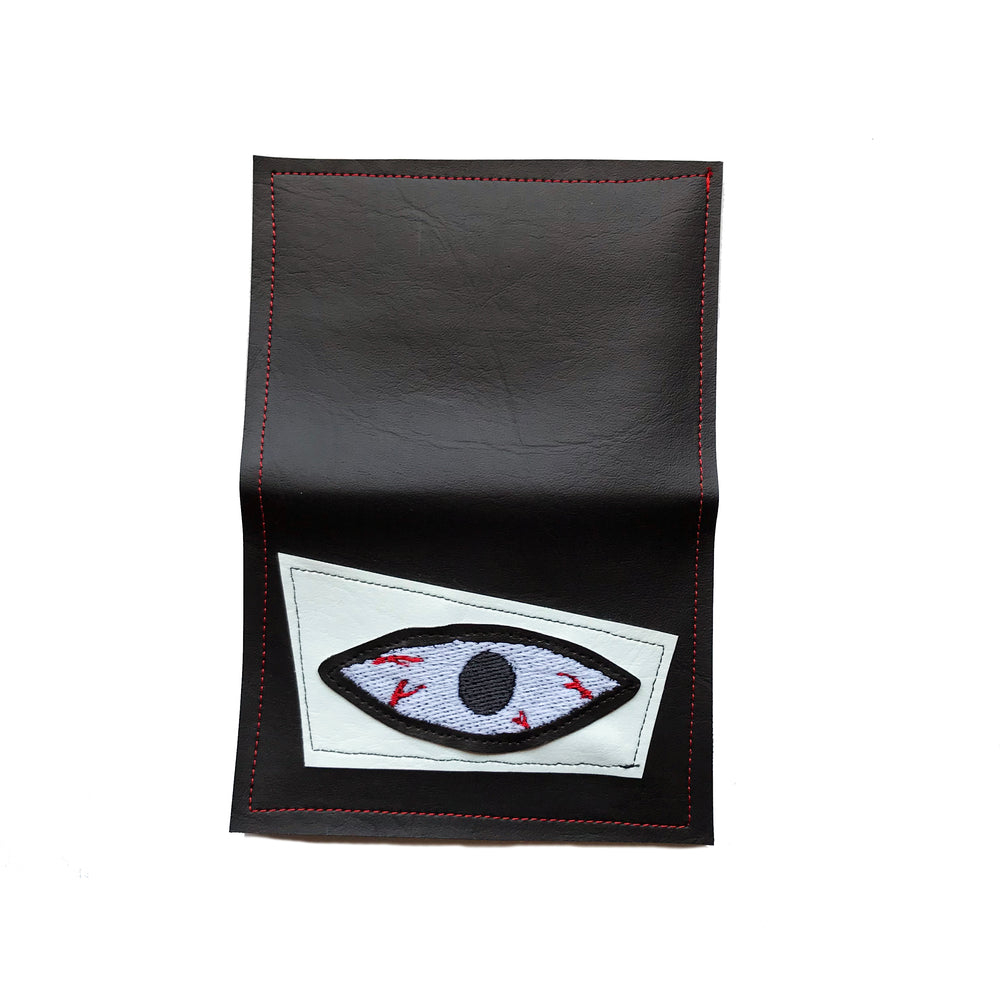 BLOODSHOT EYE wallet - white & glow in the dark