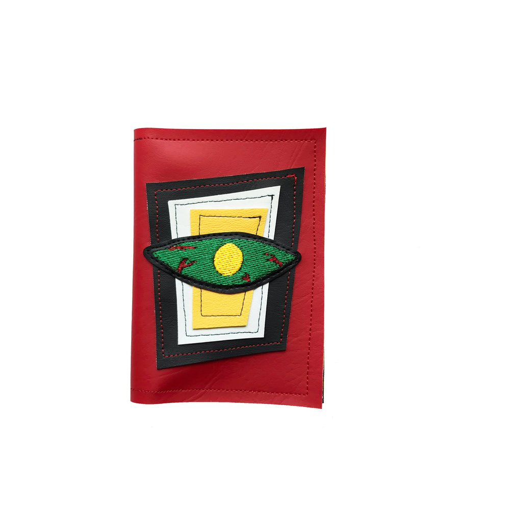 BLOODSHOT EYE wallet - red, green, & yellow
