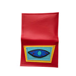 BLOODSHOT EYE wallet - red, blue, & yellow