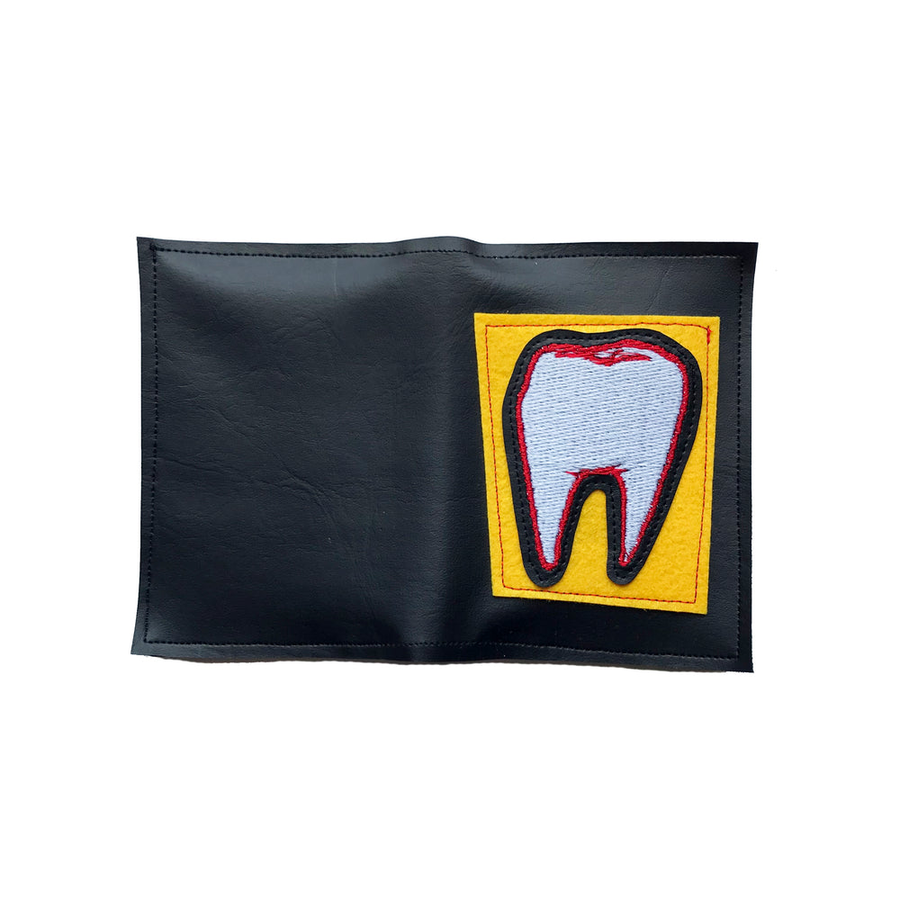 TOOTH wallet - black, yellow, & glow in the dark